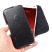 ZTE Blade S6 Leather Holster Pouch Case (Red Stitch) genuine leather case by PDair
