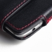 LG G3 Leather Holster Pouch Case (Red Stitch) protective carrying case by PDair