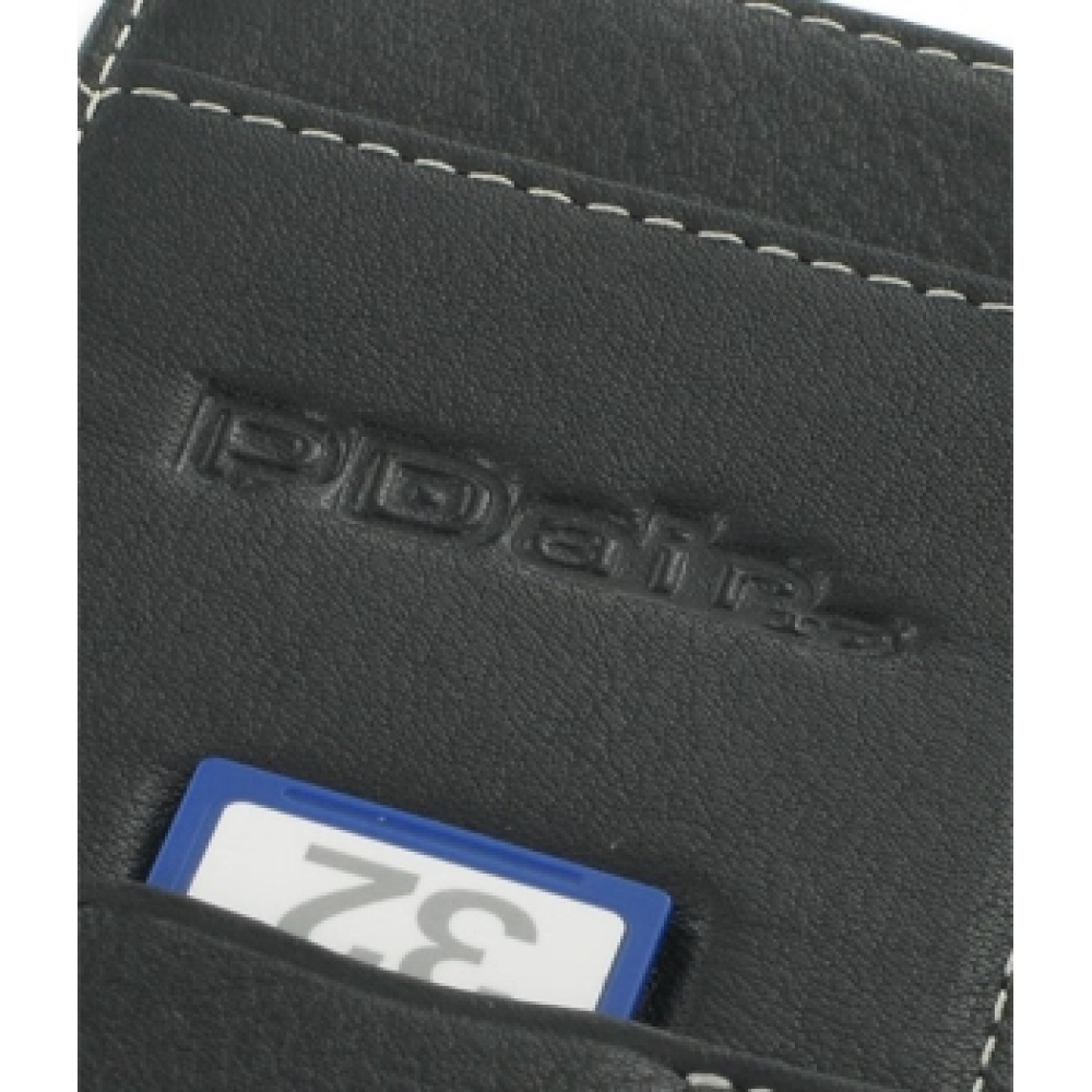 Mitac mio a701 leather flip cover (black):: pdair wallet sleeve pouch.