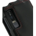 Motorola Droid 3 Leather Flip Top Case (Red Stitch) handmade leather case by PDair