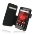 Motorola Droid Bionic Leather Flip Cover (Red Stitch) custom degsined carrying case by PDair