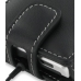 Motorola DEVOUR A555 Leather Flip Case (Black) handmade leather case by PDair