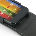 Moto G Leather Flip Top Case genuine leather case by PDair