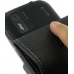 Motorola Photon 4G Leather Flip Case (Black) genuine leather case by PDair