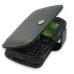 Motorola Q9h Leather Flip Cover (Black) protective carrying case by PDair