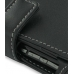 Motorola Q9h Leather Flip Cover (Black) genuine leather case by PDair