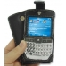 Motorola Q / Q Pro with Ext Bat Luxury Leather Flip Case (Black) genuine leather case by PDair