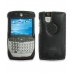 Motorola Q / Q Pro with Extended Battery Leather Sleeve Case (Black) protective carrying case by PDair