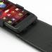 Motorola Razr i Leather Flip Top Case custom degsined carrying case by PDair