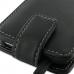 Motorola MOTO XT615 Leather Flip Top Case (Black) handmade leather case by PDair