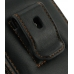 Motorola RAZR XT910 Pouch Case with Belt Clip (Orange Stitch) protective carrying case by PDair