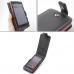 NEC MEDIAS LTE N-04D Leather Flip Case (Black) handmade leather case by PDair