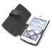 NEC Medias ES N-05D Leather Flip Cover (Black) handmade leather case by PDair