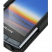 NEC MEDIAS N-04C Leather Flip Case (Black) handmade leather case by PDair