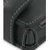 Nokia 3250 Leather Flip Case (Black) genuine leather case by PDair