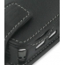 Nokia N77 Leather Flip Case (Black) genuine leather case by PDair
