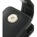 Nokia N77 Pouch Case with Belt Clip (Black) handmade leather case by PDair