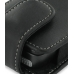 Nokia N77 Pouch Case with Belt Clip (Black) genuine leather case by PDair