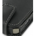 Nokia N78 Leather Flip Case (Black) handmade leather case by PDair