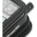 Nokia N800 Internet Tablet Leather Flip Cover (Black) protective carrying case by PDair