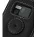 Nokia N97 Leather Flip Cover (Black) protective carrying case by PDair