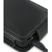 Nokia N900 Leather Flip Case (Black) genuine leather case by PDair