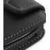 Nokia E52 Leather Flip Case (Black) handmade leather case by PDair