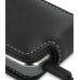 Nokia E52 Leather Flip Case (Black) genuine leather case by PDair