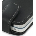 Nokia 5730 XpressMusic Leather Flip Case (Black) handmade leather case by PDair