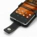 Orange San Diego Leather Flip Case genuine leather case by PDair