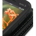 Sprint Palm Pixi Leather Flip Cover (Black) handmade leather case by PDair