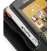 Sony Ericsson W950 Leather Flip Case (Black) handmade leather case by PDair