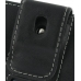 Sony Ericsson Aino U10 Leather Holster Case (Black) protective carrying case by PDair