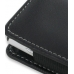 Sony Ericsson Xperia X10 Mini Leather Sleeve Pouch Case (Black) handmade leather case by PDair