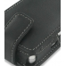 Sony Ericsson P1i P1 Leather Flip Case (Black) handmade leather case by PDair