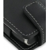 Sony Ericsson Xperia X2 Leather Flip Case (Black) handmade leather case by PDair