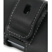 Sharp HYBRID W-ZERO3 Leather Holster Case (Black) protective carrying case by PDair