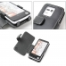 Sharp PANTONE 5 107SH Leather Flip Cover (Black) handmade leather case by PDair