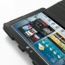 Samsung Galaxy Tab 2 10.1 Leather Flip Carry Cover (Black) genuine leather case by PDair