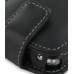 Samsung Jack SGH-i637 Leather Flip Case (Black) genuine leather case by PDair
