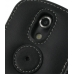 Samsung Epic 4G Galaxy S Leather Flip Cover (Black) protective carrying case by PDair