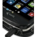 Samsung Epic 4G Galaxy S Leather Flip Cover (Black) genuine leather case by PDair