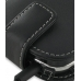 Samsung Epic 4G Galaxy S Leather Flip Case (Black) handmade leather case by PDair