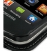 Samsung Epic 4G Galaxy S Leather Flip Case (Black) genuine leather case by PDair