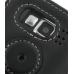 Samsung SGH-i600 / SGH-i608 with Ext Bat Leather Flip Cover (Black) protective carrying case by PDair