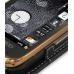 Samsung B7620 Giorgio Armani Leather Flip Case (Black) genuine leather case by PDair