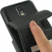 Samsung Galaxy S2 LTE i727R Leather Flip Case (Black) handmade leather case by PDair