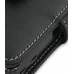 Samsung Behold T919 Leather Flip Cover (Black) genuine leather case by PDair