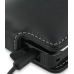Samsung Omnia HD i8910 Leather Flip Case (Snap Button) (Black) top quality leather case by PDair