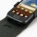 Samsung Galaxy Ace 2 Leather Flip Top Case (Orange Stitch) genuine leather case by PDair
